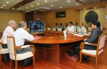 Video conferencing via NICNET of Hon'ble Governor, Maharashtra with all Divisional Commissioners and District Collectors on Swaccha Bharat Abhiyan on 21st October 2014