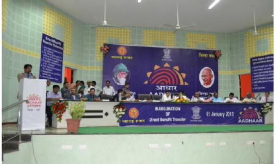 Inauguration of Direct Benefit Transfer (AADHAAR) in pilot District Wardha (Maharashtra) - 1st January, 2013
