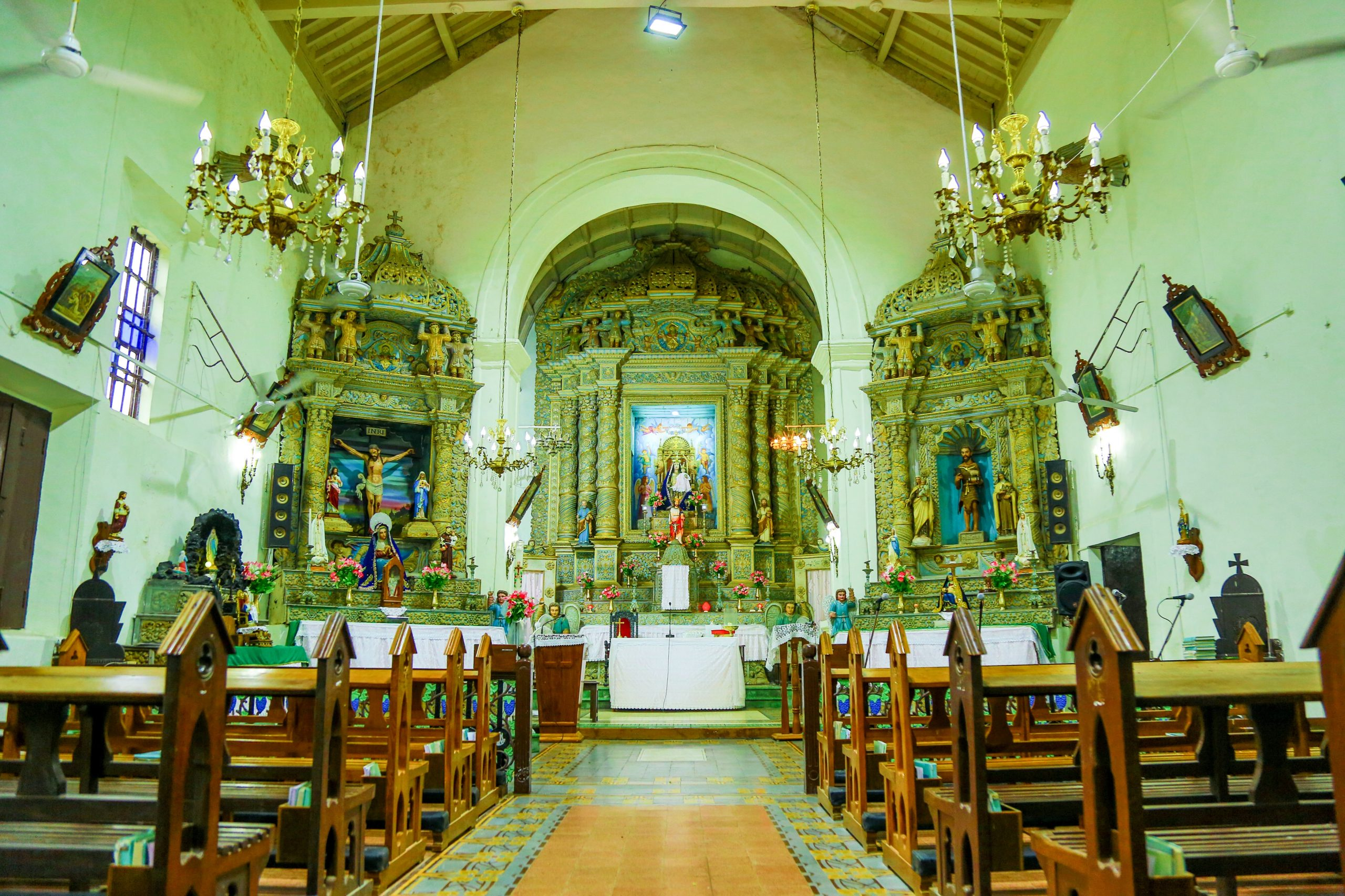 The Church of Our Lady of Remedios inside