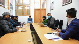 Secy IT Ladakh convenes meeting to discuss NOFN VSAT status of UT Ladakh.