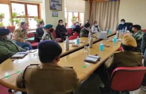 CEC, LAHDC Leh convened meeting to review situation of rising COVID-19 cases in Leh district