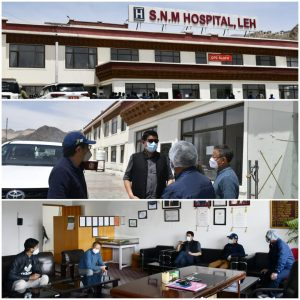 CEC Leh and MP Ladakh visit SNM and Oxygen plants in Leh Reviews Oxygen supply and addresses common issues of health workers