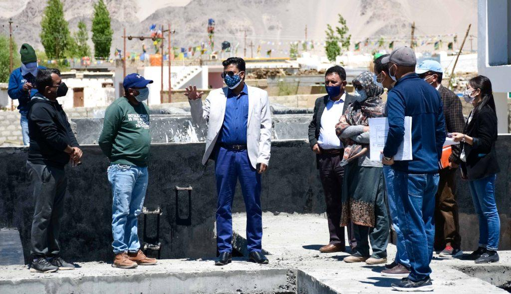 Sahu inspects under construction Sewage Treatment Plant and other Developmental works in Leh town  First Sewage Treatment Plant of Ladakh to become operational by August 2021