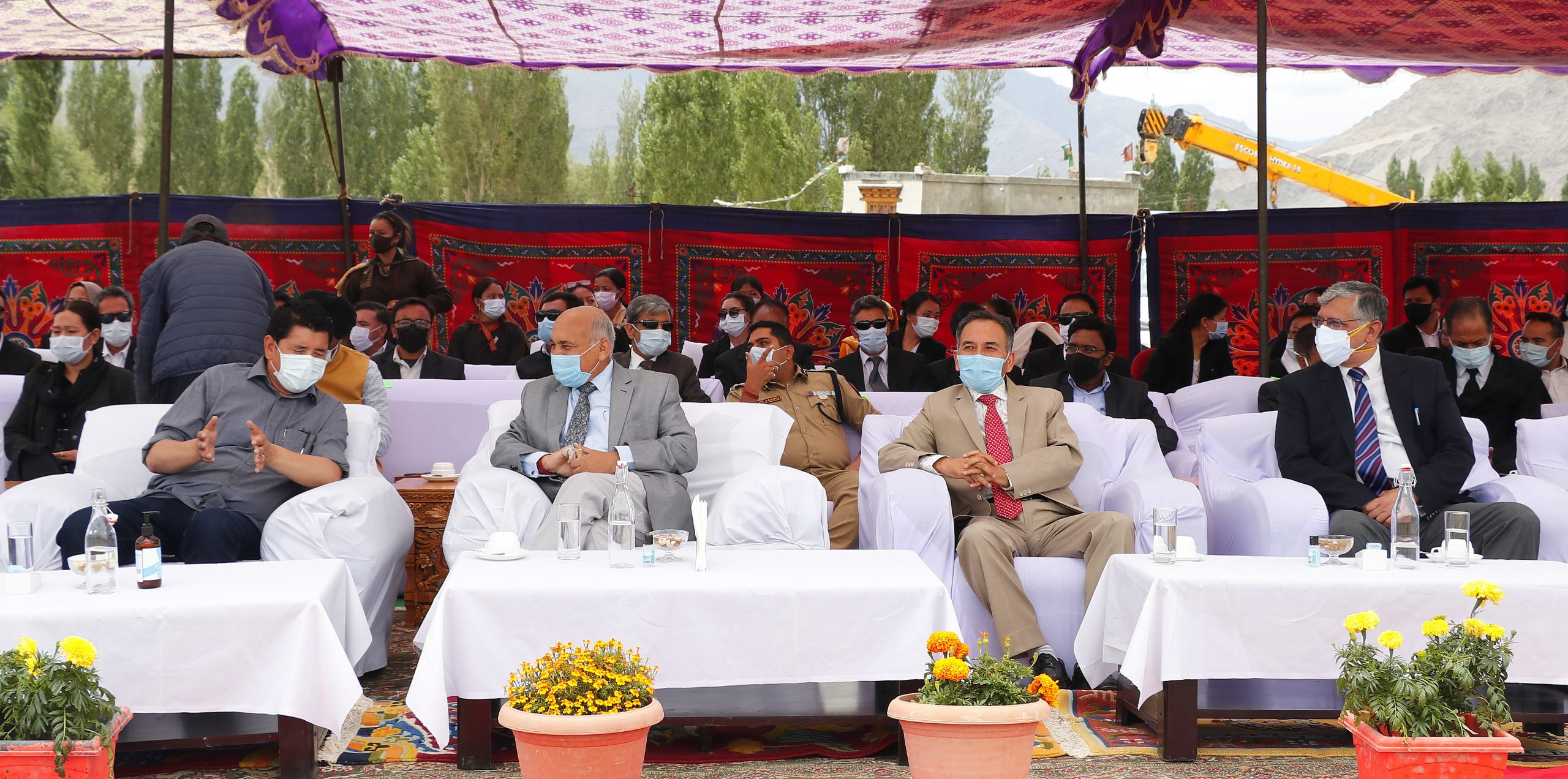 Chief Justice Mithal lays foundation stone for new District Court Complex at Leh