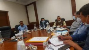 The progress of 220KV Transmission Line and sub-station taken up under different schemes reviewed at Leh