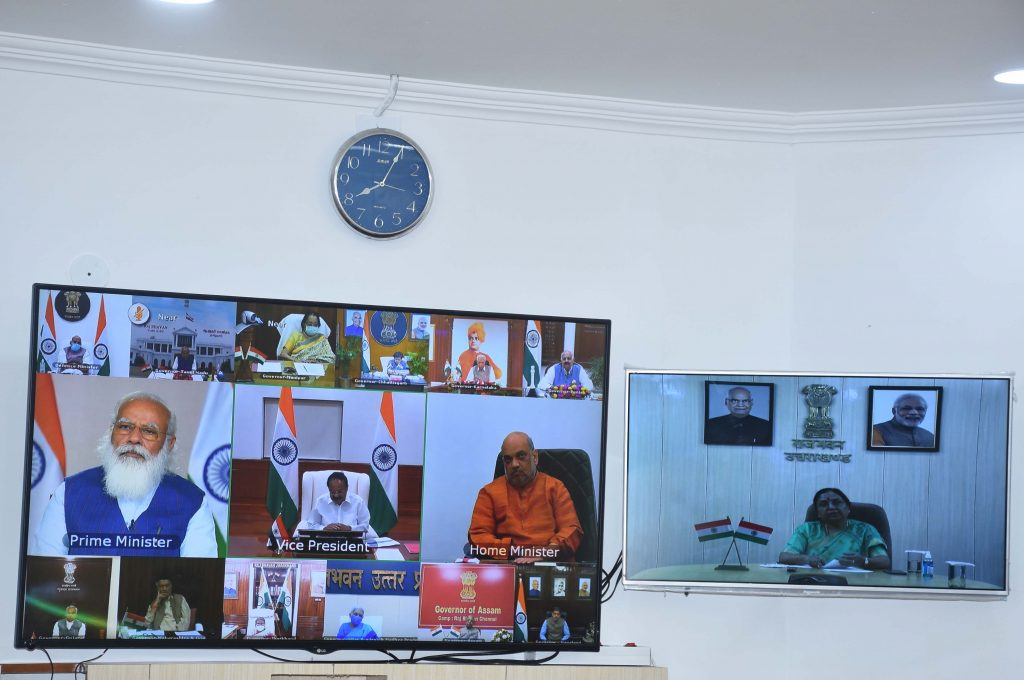 Governor participated in the video conferencing with the Vice President and the Prime Minister.