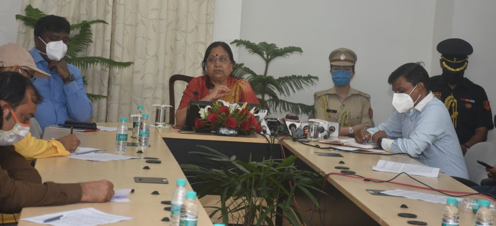 Governor interacted with media on completion of three years of her tenure.