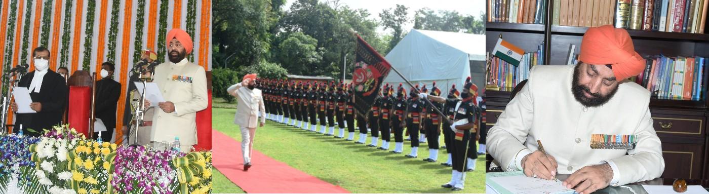 Lt Gen (Retd) Shri Gurmeet Singh takes oath as Governor of Uttarakhand
