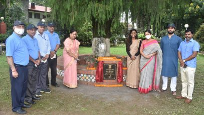 The Governor inaugurated a bandstand made of eco bricks in the Raj Bhawan premises