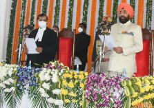 Chief Justice of Uttarakhand Justice Raghvendra Singh Chauhan administered the oath of office to Lieutenant General (Retired) Shri Gurmit Singh;?>