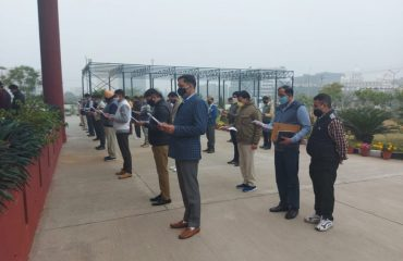 Voter pledge by Vigilance Bureau Officers