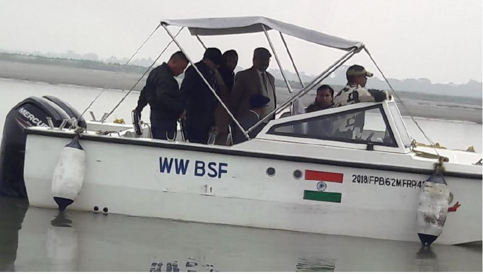 Transport and NIC officials travel 68-km on speed boat across the Brahmaputra river for inauguration of DTO South Salmara at one of the most remote locations