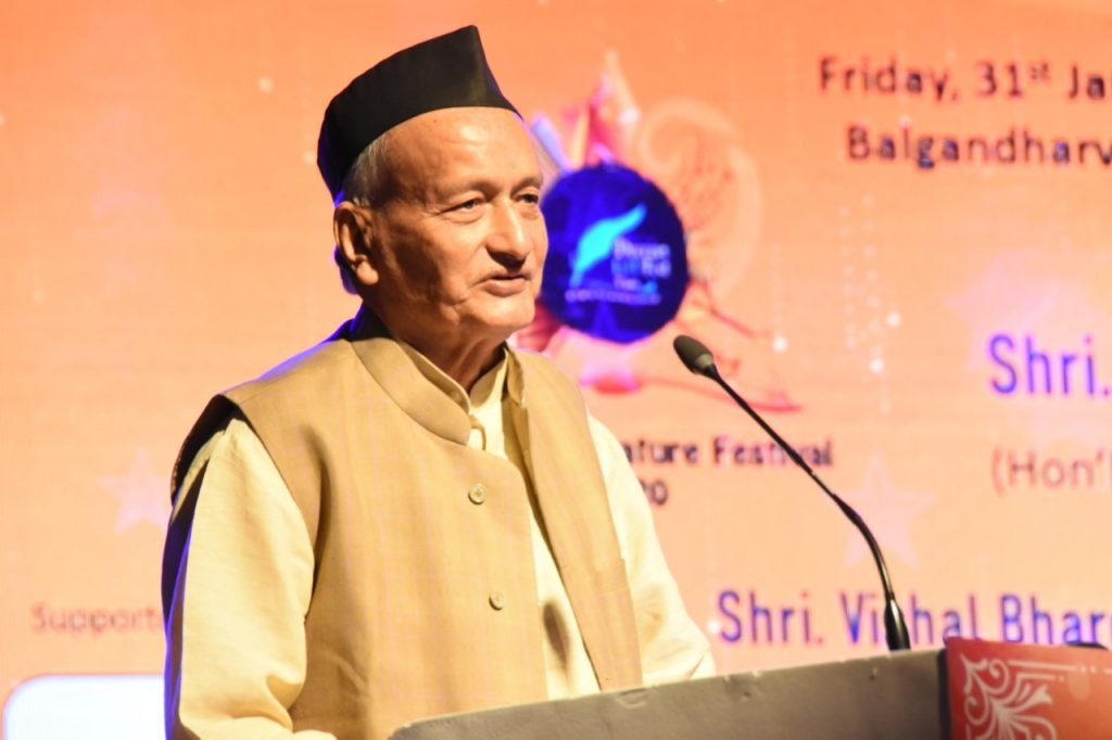 Governor Bhagat Singh Koshyari inaugurated a 3 – day 'Deccan Literature Festival' hosted by the Dakani Adab Foundation at Balgandharva Rang Mandir in Pune. Former Union Minister of State Dr Satyapal Singh, Collector Naval Kishore Ram, Sugar Commissioner Saurabh Rao, filmmaker Vishal Bharadwaj, Deputy Collector Monika Singh and others were present. 'Sahar Ke Khawab 'a Hindi poetry book written by Monika Singh was released