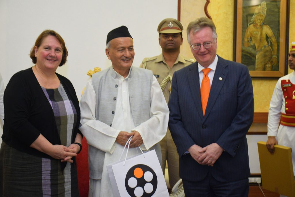 German Federal State Baden-Wuerttemberg's Minister for Policy Coordination Mrs Theresa Schopper met Governor Bhagat Singh Koshyari at Raj Bhavan, Mumbai