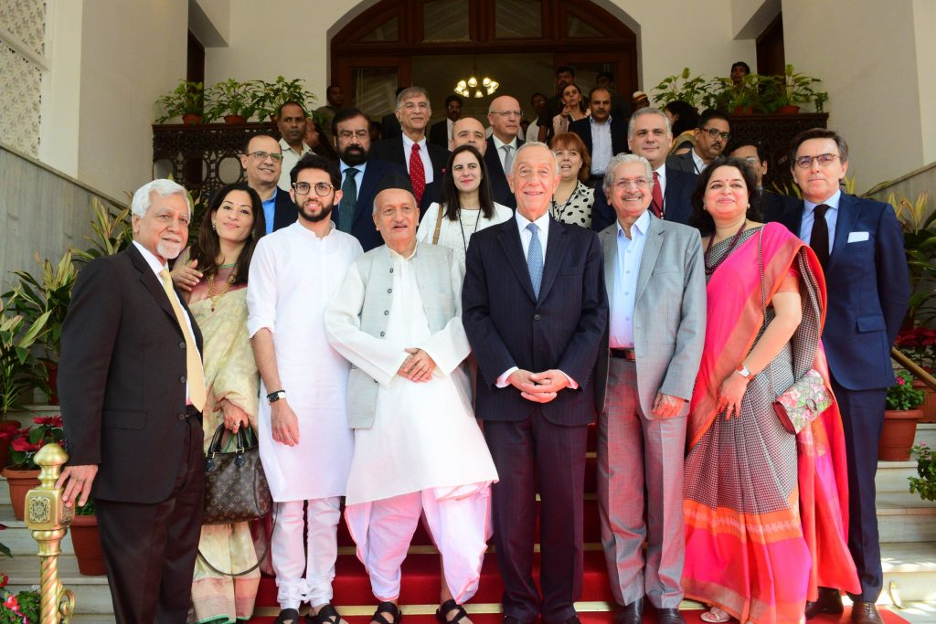 The Portugal President Marcelo Rebelo de Sousa along with a delegation met the Governor of Maharashtra Bhagat Singh Koshyari at Raj Bhavan, Mumbai
