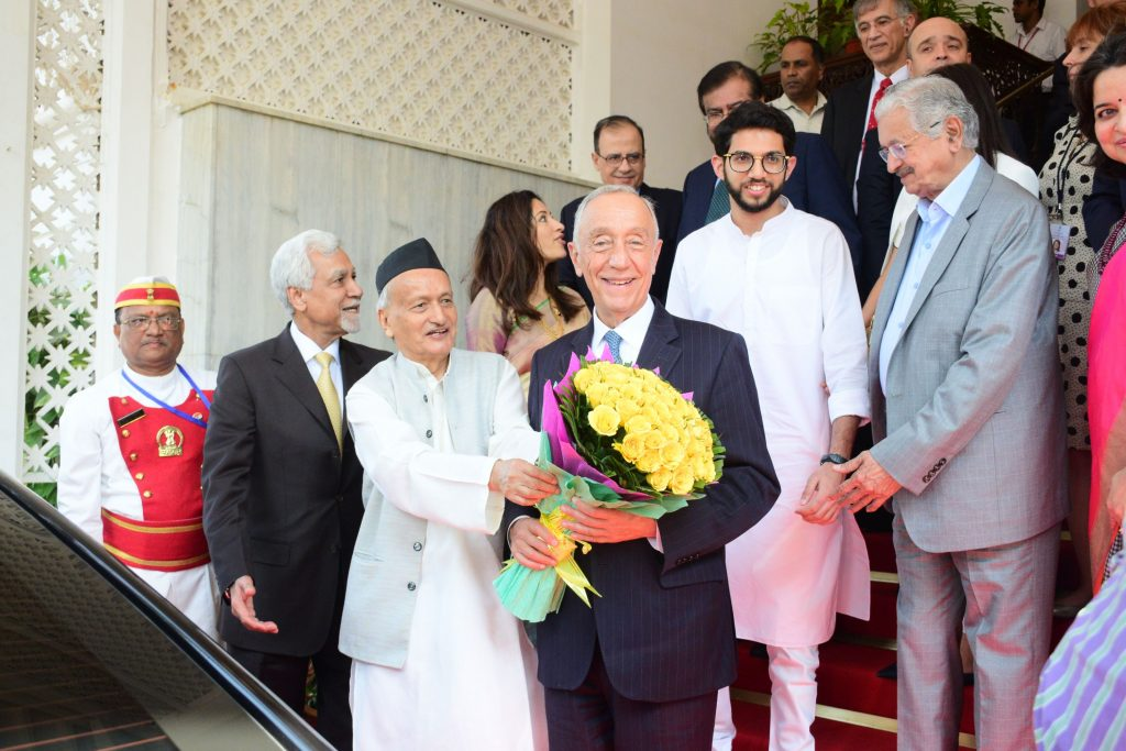 The Portugal President Marcelo Rebelo de Sousa along with a delegation met the Governor of Maharashtra Bhagat Singh Koshyari at Raj Bhavan, Mumbai