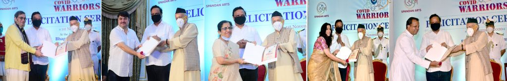 Prashant Damle, Subhash Ghai among Corona Warriors felicitated by Governor