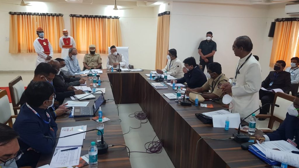 Governor had a meeting with officers of district administration during his visit to the Hingoli district of Marathwada.