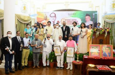 Governor presents 10th Dr Ambedkar Awards at Raj Bhavan