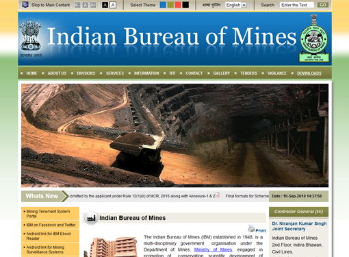 Indian Bureau of Mines, Ministry of Mines GoI