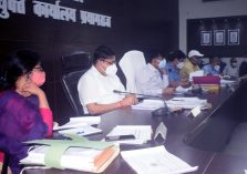 Divisional review meeting of non-tax revenue collection and development projects on priority;?>