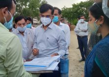 Inspection of Medical College, Allipur (under construction), District Women's Hospital and District Men's Hospital;?>