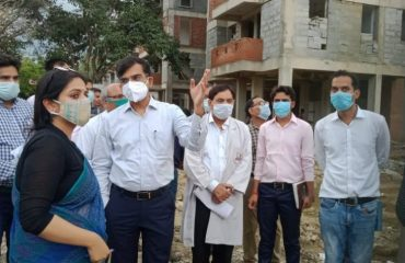 Inspection of Medical College, Allipur (under construction)