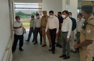 Surprise Inspection by Divisional Commissioner of the under-construction Divyangjan North Secondary School in Barhni, Pratapgarh