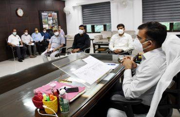 Review Meeting regarding Repair Work of Roads Damaged due to Excessive Rainfall