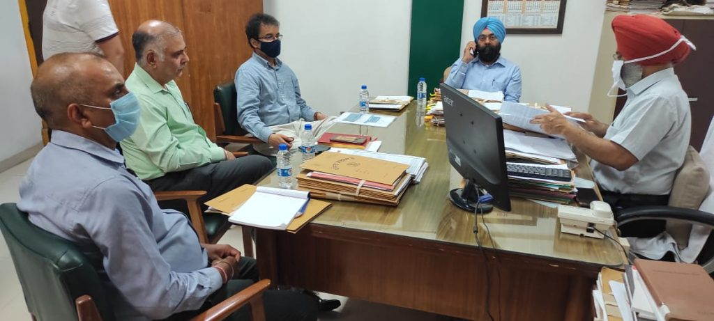 Review Meeting by Shri Rajesh Bahadur, DDG & Punjab State Coordinator with SIO, ASIOs and HoDs of NIC Punjab on Friday, the 09th of July 2021.